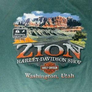Harley Davidson Zion Utah T-Shirt Mens Size 3XL